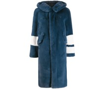 Mantel mit Faux-Fur-Ärmeln