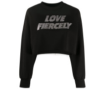 'Love Fiercely' Oversized-Pullover
