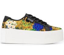 Geblümte Flatform-Sneakers