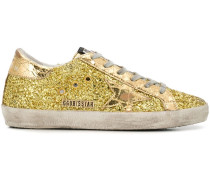 'Superstar' Sneakers mit Glitzer