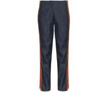 Gestreifte Jeans mit hohem Bund