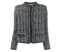 Tweed-Jacke mit Perlen
