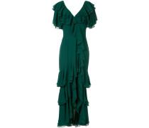 Langes Kleid mit Rüschen