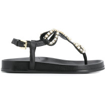 crystal studded strap sandals