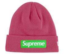Gerippte Mütze mit Logo