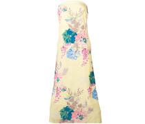 Florales Kleid mit schulterfreiem Design