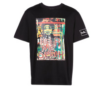 "T-Shirt mit ""Help Me""-Print"