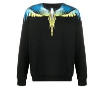 Sweatshirt mit Feder-Print