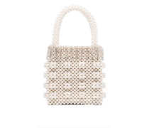 Huckleberry crystal beaded mini tote bag