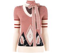 Jacquard-Pullover mit Halstuch