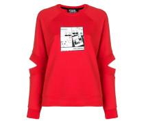 Sweatshirt mit Manga-Print