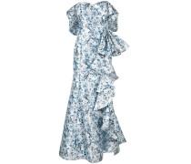 Schulterfreie Robe mit Rüschen