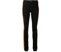Skinny-Jeans mit Streifen