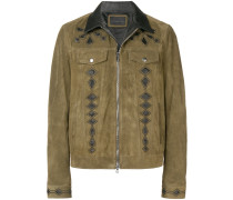 suede jacket with nappa inlays