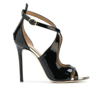 crossover strap stiletto sandals