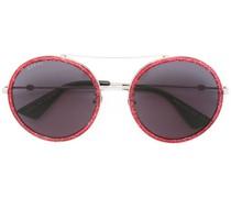 Pilotenbrille mit Glitzer