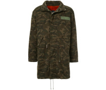 fur lined camouflage coat