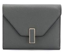 Portemonnaie mit gekörnter Ledertextur