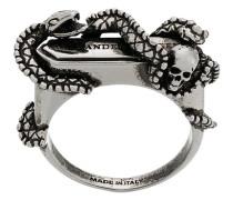 'Snake and Skull' Ring