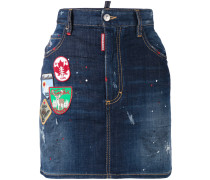Jeansminirock mit Patches