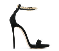chain trimmed sandals
