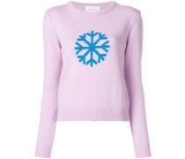 Intarsien-Pullover mit Schneeflocken-Motiv