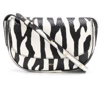 Schultertasche mit Zebra-Print