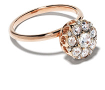 18kt Rotgoldring mit Diamanten