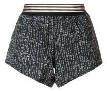 Elastische Shorts mit Print