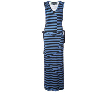 illusion stripe maxi dress