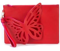 butterfly applique clutch bag