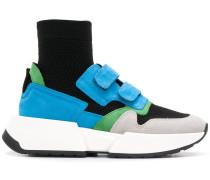 Sock-Sneakers mit Kontrasteinsätzen