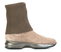 Stiefel mit Metallic-Sohle