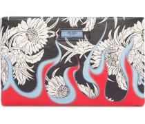 Clutch mit Blumen-Print