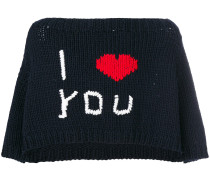 'I Love You' Cropped-Wollpullover