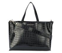 Handtasche mit Krokodillederprägung