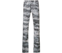splash print skinny-fit jeans