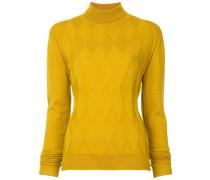 diamond textured turtleneck sweater