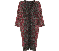 marled open front coat