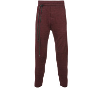 string detail track trousers