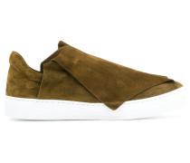 foldover detail slip-on sneakers