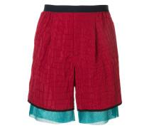 Shell-Shorts mit Kroko-Effekt