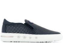 Perforierte Slip-On-Sneakers
