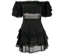 Schulterfreies Popeline-Kleid