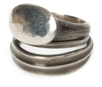 Set aus 2 Silberringen
