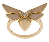 18kt , diamond and opal winged bug ring