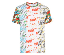 "T-Shirt mit ""Yes No""-Print"