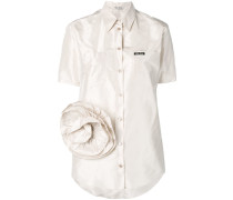 T-Shirt mit Korsagendetails