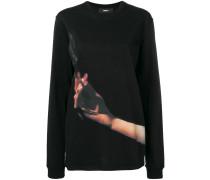 Sweatshirt mit Zigaretten-Print