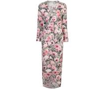 poppy print wrap maxi dress